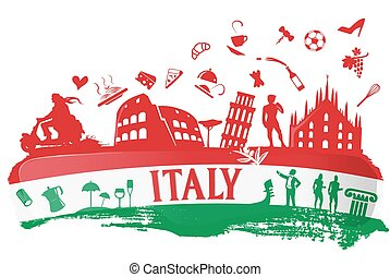 italian background - italian flag ink background with...