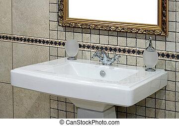 Italian basin - Italian style basin and faucet with ancient ...