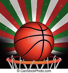 Italian basketball, vector