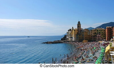italian beach landscape panorama - summer vacation on...
