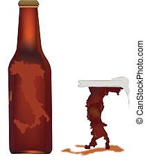 Italian beer logo