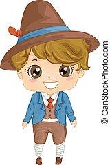 Italian Boy - Illustration Featuring a Boy Wearing an...