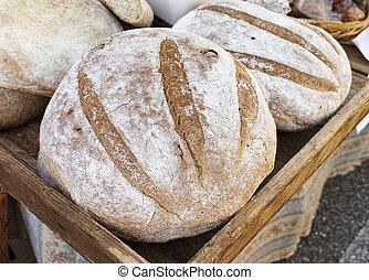 italian bread in a market