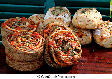 Italian broad - fresh broad with dry tomato\\\'s and spicy