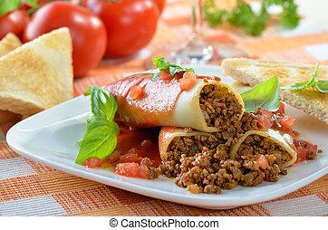 Italian cannelloni