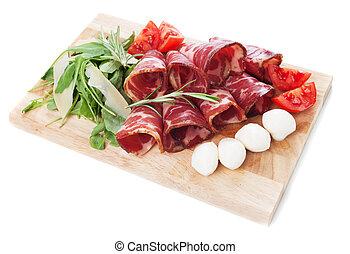 Italian capicola, cured pork meat - Italian capicola or...