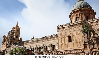 Italian cathedral - Sequence of cathedral, Palermo, Sicily, ...
