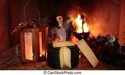Italian Cheese And Wine - Video clip showing a typical...