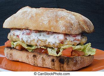 Italian chicken burger - Italian burger chicken , grilled...