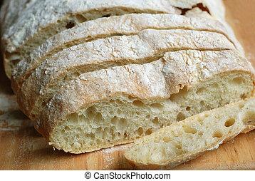 Italian ciabatta slices- freshly baked gourmet bread