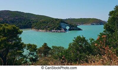 italian coast of south italy Gargano region .