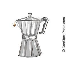 Italian Coffee maker sketch