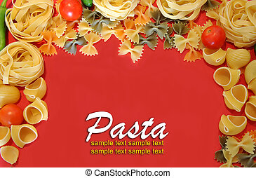 italian colorful pasta