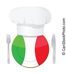 Italian cuisine concept illustration design