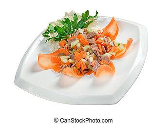 healthy salad of beef tongue