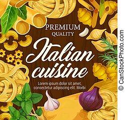 Italian cuisine premium pasta penne and spaghetti - Italian...