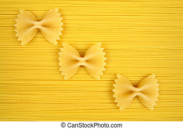 Uncooked pasta - cuisine and food object close-up photo