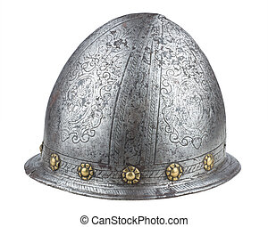 A 16th century Italian etched cabasset helmet