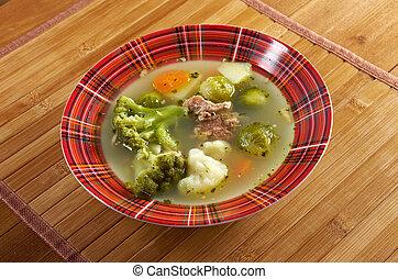 italian farm-style soup with broccoli - italian farm-style ...