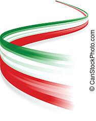 Italian flag - Abstract Italian waving flag isolated on ...