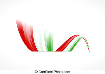 Italian flag - Abstract Italian waving flag isolated on...