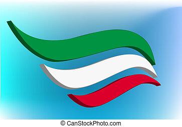 Italian flag abstract