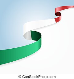 Italian flag wavy abstract background.