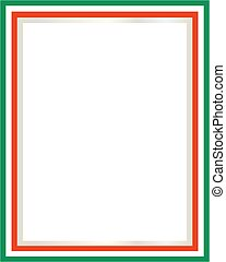 Italian flag border with blank space for text.