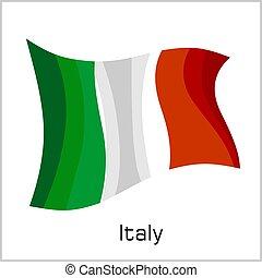 Italian flag, flag of Italy vector illustration