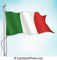 Italian flag flying