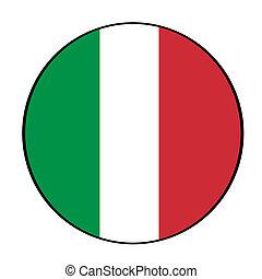 Italian flag icon button
