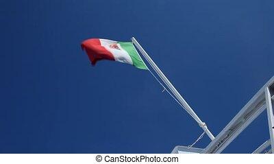Italian Flag In Wind