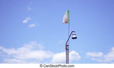 Italian flag on the light pole