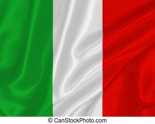 Italian flag on the wind
