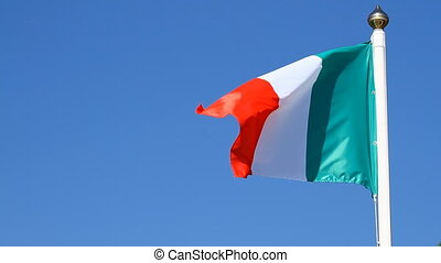 Italian Flag on a background sky