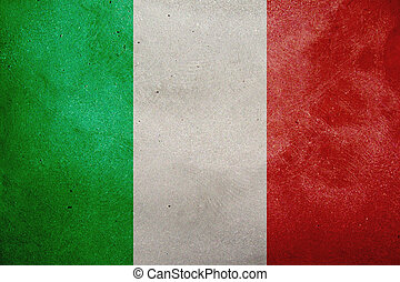 Italian Flag - The flag of Italy painted on the wall