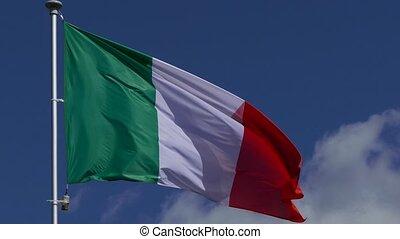 Italian Flag Waving - Italian Flag Representative Symbol...