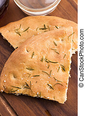 Italian focaccia bread with rosemary