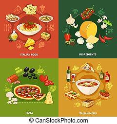 Italian Food 2x2 Design Concept