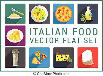 italian food, byt, vektor, ikona