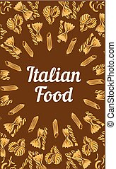 Italian food concept banner, hand drawn style