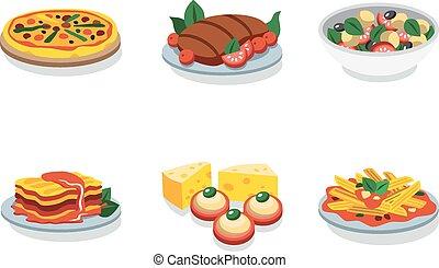 Italian food flat vector icon