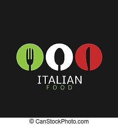 Italian food icon
