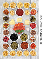 Italian Food Ingredient Sampler