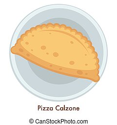 Italian food pizza Calzone Italy cuisine staffed pie - Pizza...