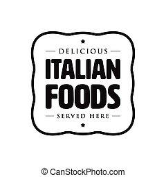 Italian foods vintage sign retro