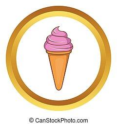 Italian gelato ice cream vector icon
