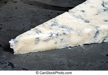 Italian Gorgonzola Cheese. - A wedge of Italian Gorgonzola ...