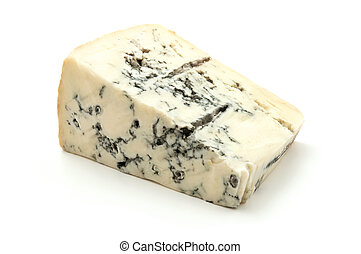 Gorgonzola - Italian Gorgonzola on a white background
