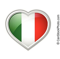 Italian heart icon